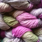 80g Hand-dyed Falklands Corridale Wool 2ply 4ply weight Magenta Moss Lavender