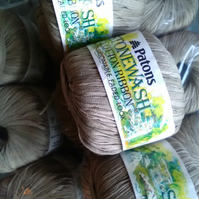 50g PATONS Stonewash Cotton Ribbon Khaki