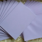 10 X C6 Card Blanks and Envelopes in Lilac with Lilac envelopes