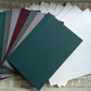 10 X C6 Card Blanks and Envelopes in Winter colours
