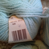 150g MONDIAL BIO LANA ORGANIC WOOL LIGHT ARAN mint green