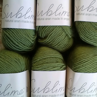 50g SUBLIME NATURAL ARAN Gracie Apple Green