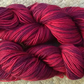 Hand-dyed Superwash 4PLY Sock Wool 100g Burgundy Red Wine