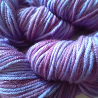 50g Hand-dyed 100% MERINO ARAN Purple Blueberry