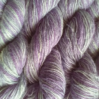 25g Hand-dyed Laceweight Lambswool lavender pale blue mix