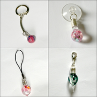Key Rings, Zip/Bag Charms, Cell/Mobile Phone Charms and Car/Window Charms...