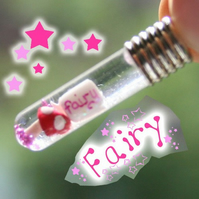Fairy Dust Magic and Mushroom Snow Globe Necklace