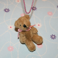 Vintage Victorian Style Teddy Bear Necklace