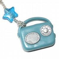 Kitsch Vintage Transistor Radio Necklace