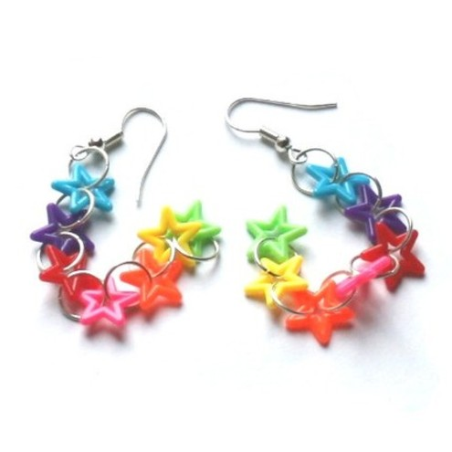 Kitsch Rainbow Star Drizzle Earrings