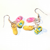 Tiny Polly Pocket Shoe Dangle Earrings