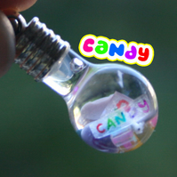 Round Candy Globe Vial Pendant Necklace