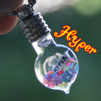 Hyper Miniature Bottle Snow Globe Charm Necklace