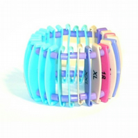 Blue, Purple and Pinks Recycled Retail Tag Bracelet