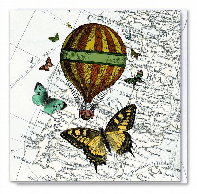 Up and Away Greetings Card