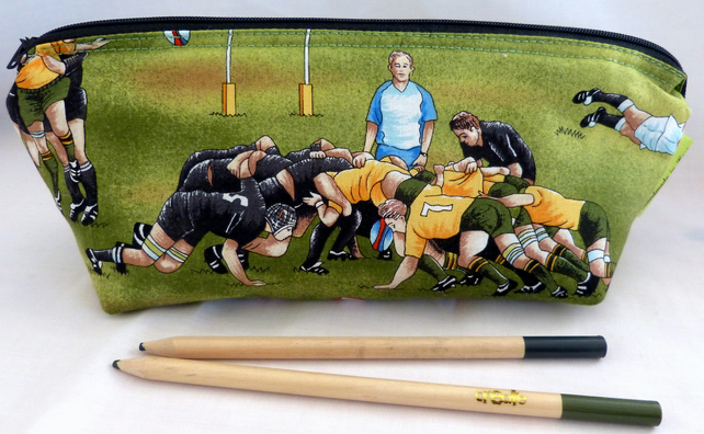Wedding Gift Ideas Rugby : Large Pencil Case. Rugby football. Gift child. Gift Boy. Sports ...