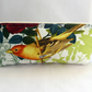 Pencil case with zip. Vintage Orange Bird design. Back to school. Teenager