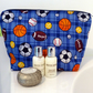 Wash bag, toiletries bag. Sports Balls. Rugby Football. Gift Man Boy