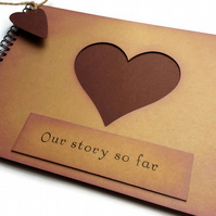 scrapbook for a boyfriend our story so far love heart anniversary birthday gift