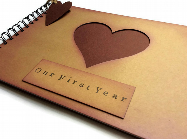 First 1st Year Paper Wedding Anniversary Gift F Folksy