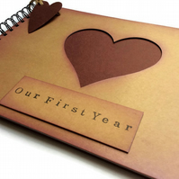 Our first year wedding anniversary scrapbook album memory book gift present