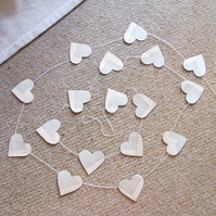 Paper heart garland approximately 2 m