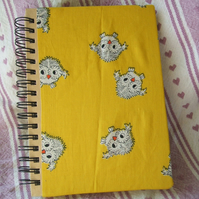 Owl covered notebook A6