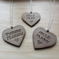 Wooden Mothers day heart necklace