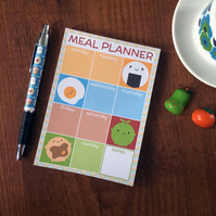 Meal Planner Notepad - Kawaii Food