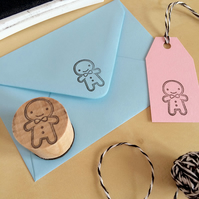 Polymer Stamp - Cookie Cute Kawaii Gingerbread Man