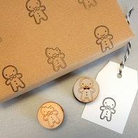 Polymer Stamp Set - Cookie Cute Kawaii Gingerbread Man