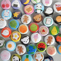 Pick and Mix Kawaii Badges - choose any 10