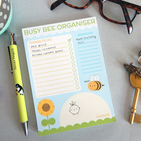 Busy Bee Organiser - Kawaii Pad for To Do Lists