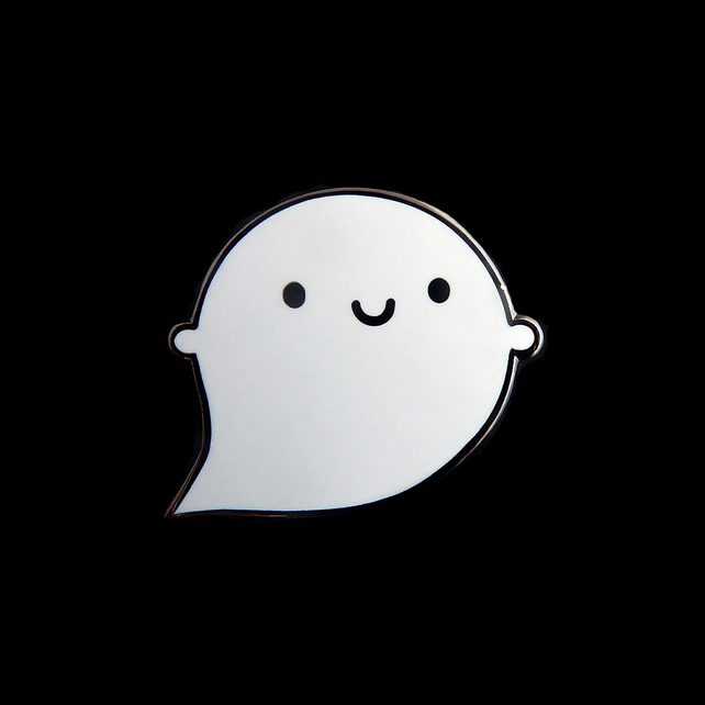Kawaii Ghost Halloween Enamel Pin