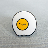 Kawaii Fried Egg Enamel Pin