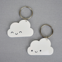 Happy Clouds Kawaii Keyrings, Keychains, Bag Charms or Pendant Necklaces