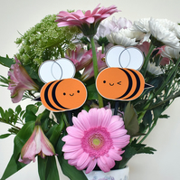 Kawaii Bumblebees Wooden Garden Decorations