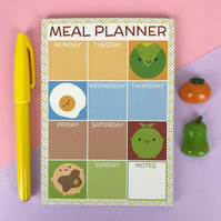 Meal Planner Magnetic Notepad - Kawaii Food