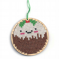 Christmas Pudding Cross Stitch Pattern - PDF Chart