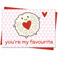 Jammie Dodger Card - You're My Favourite