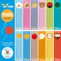 Look Around Birthday Calendar - kawaii wall calendar for every year