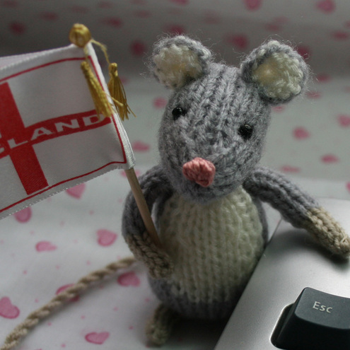 World Cup England Mouse With Flag