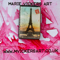 Eiffel Tower Paris Brooch set in to Resin