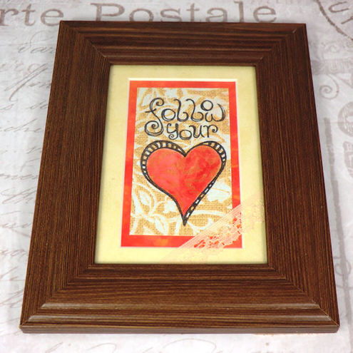 Framed Picture - Follow Your Heart