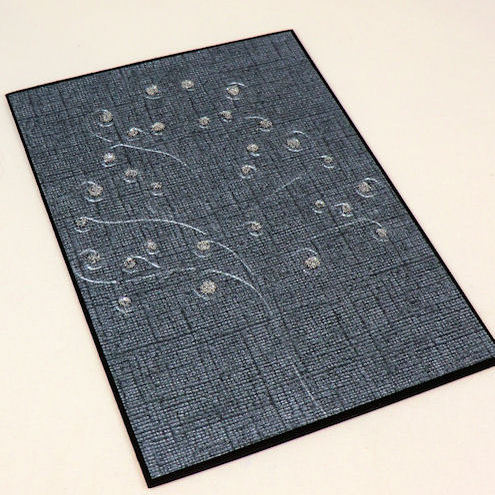 Card - Grey Embossed Tree