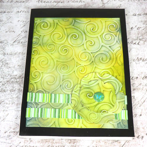 Mini Photo/ACEO Album - Green Swirls