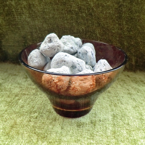 ***SALE*** Glass Bowl - Brown & Terracotta