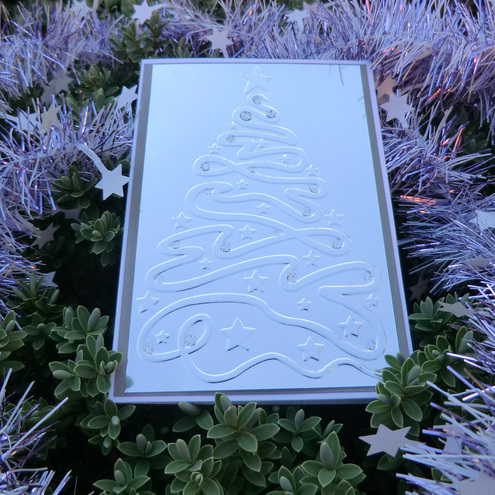 ***SALE*** Pack of 5 Xmas Cards - Silver Trees