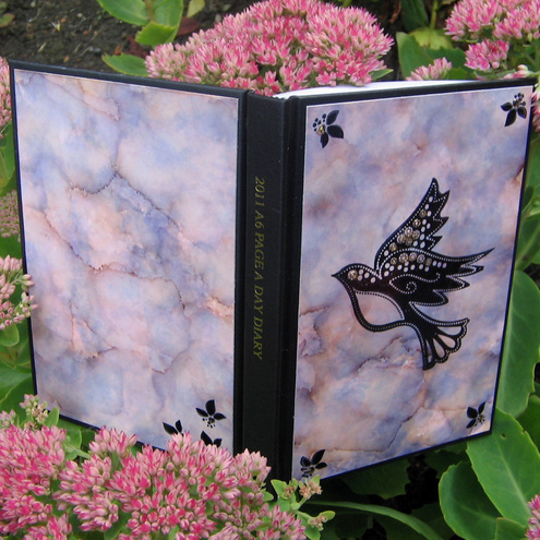 A6 2011 Diary - Pink and Lilac Bird