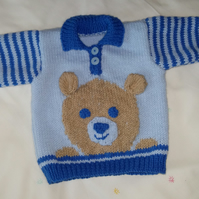 Hand Knitted boys Jumper 18""